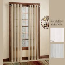 Green Striped Curtain Panels by Atlantic Stripe Semi Sheer Grommet Curtain Panels