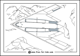 B2 Stealth Bomber Colouring Page Thumbnail Image