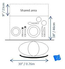 Dining Table Dimensions Ideal Space Required For One Person Round 8