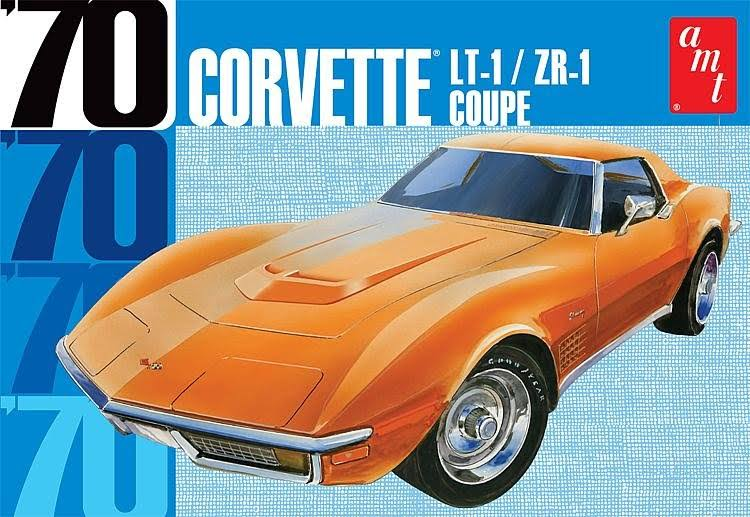 AMT Plastic Model Kit - 1970 Chevy Corvette Coupe, 1/25 Scale