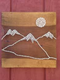 Mountain Range String Art Moon Rustic By CrookedTreeTraders