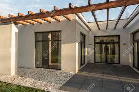 100 Concrete House Design Minimalistconcrete With Big Windows An Wooden Roof