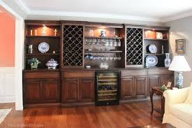 Living Room Wine Cabinet Built Ins