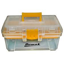 Homak 15 In. Plastic Transparent Tool Box-TP00115088 - The Home Depot