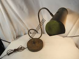 vintage mid century art deco brass music note piano desk lamp