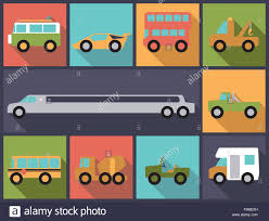 100 Vans Cars And Trucks Flat Design Illustration With Various Cars Trucks Buses And Vans