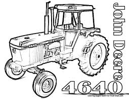 Coloriage Tracteur John Deere À Imprimer Artemia Avec Dessin De