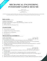 Internship Resume Engineering Template Free Examples Beautiful