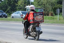 Pizza Hut Delivery Bike Chiang Mai Thailand