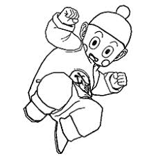 Chiaotzu Character From Dragon Ball Z Coloring Sheet