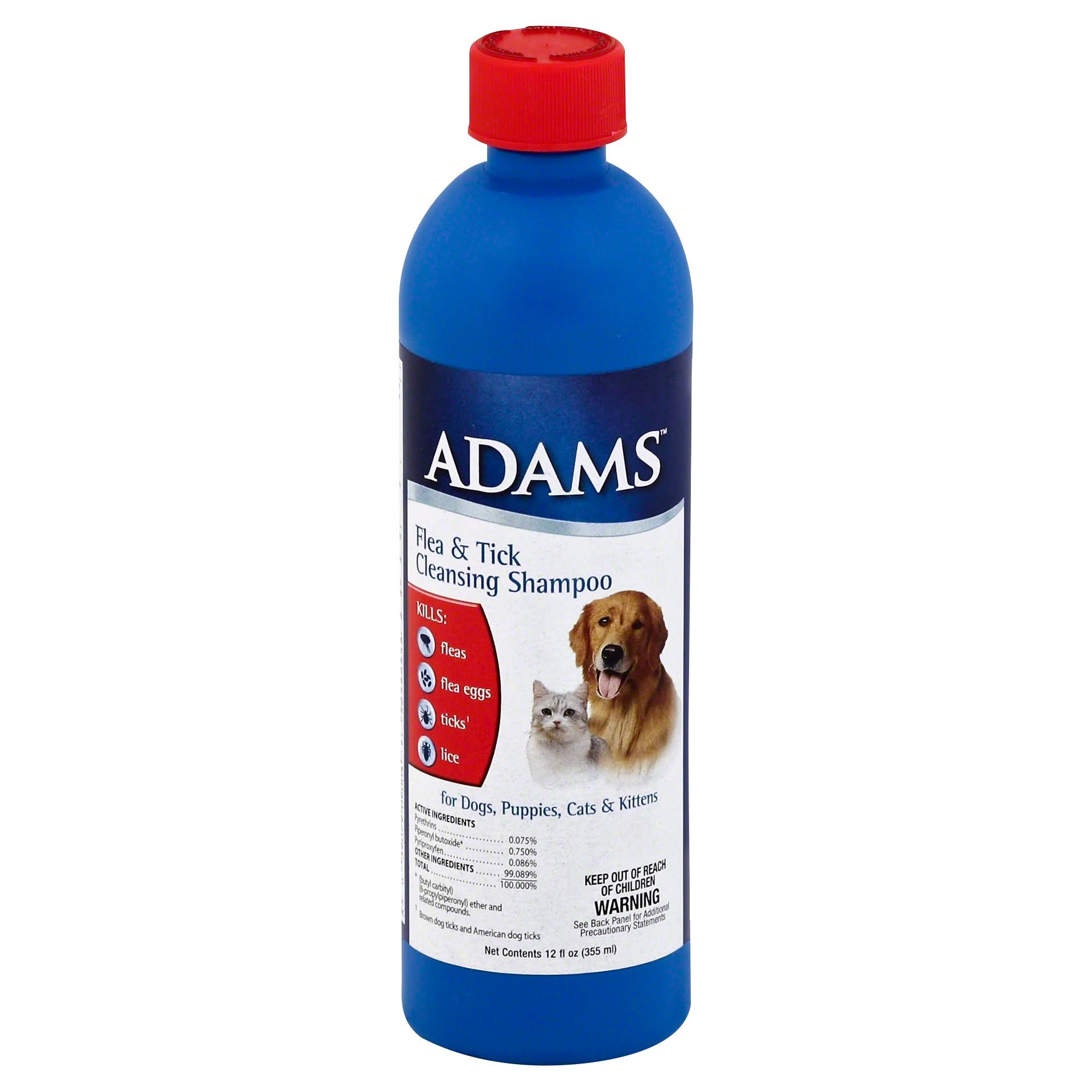 Adams Flea and Tick Cleansing Pet Shampoo - 12oz