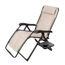 Timber Ridge Folding Lounge Chair by Timber Ridge Zero Gravity Chair With Side Table Chair Design Idea