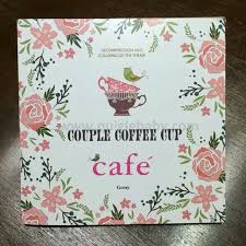 Cafe Couple Coffee Adult Coloring Book