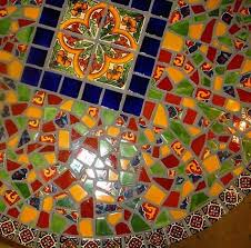 image result for talavera tile table painted furniture and
