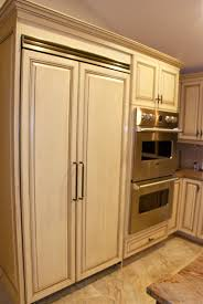 Amish Cabinet Makers Wisconsin by Panelled Refrigerator Msi Kitchen Design Pinterest
