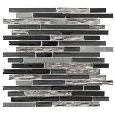 Jeffrey Court Mosaic Tile by Jeffrey Court Materialized 12 In X 12 25 In X 8 Mm Glass Metal