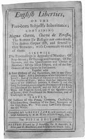 20 Title Page Of Henry Care English Liberties From Its First American Edition Printed In Boston By James Franklin 1712 Courtesy Yale Law School
