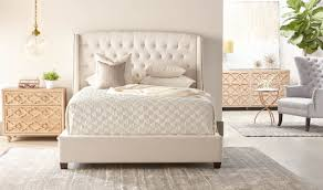 White Velvet King Headboard by Sloan Standard King Bed
