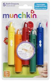amazon com munchkin bath crayons set 5 piece baby
