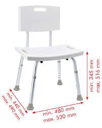 badezimmer stuhl mit lehne höhenverstellbar