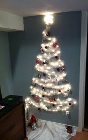 Simple Cubicle Christmas Decorating Ideas by The No Tree Christmas Tree Wall Christmas Tree Small Spaces And