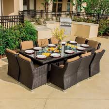 8 Person Outdoor Table by Modern Furniture Modern Patio Dining Furniture Large Medium