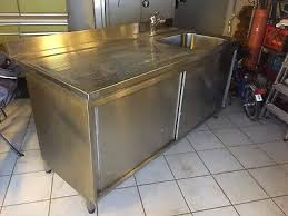 spüle edelstahl gastronomie schrank küche eur 400 00
