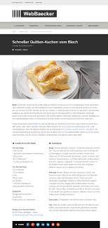 schneller quitten kuchen vom blech webbaecker net