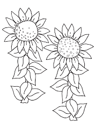Sunflower And Bee Coloring Page