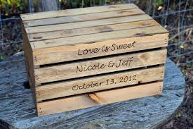 Rustic Wedding Cake Stand Crate Personalized Wooden