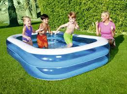 planschbecken blue rectangular family pool 262x175x51 cm