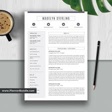 Editable Resume Template, Job CV Template, Professional Word Resume Design,  2019 - 2020 College Students, Interns, Fresh Graduates, Professionals: ...