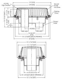 engineering specs for watts rd 700 dual outlet roof drain