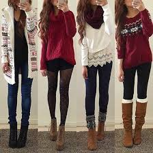 9 Cute Winter Christmas Outfits For Teens
