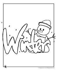 Winter Spring Summer And Fall Coloring Pages