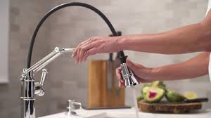 Articulating Kitchen Sink Faucet the articulating kitchen faucet by brizo youtube