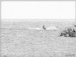 Illustration De Dessin Animé De Skieur Castor Isolé Sur Blanc Clip