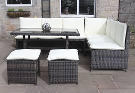 patio sofa dining set rattan corner sofa dining set outdoor garden furniture in black or