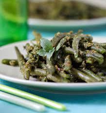 cuisiner des haricots verts haricots verts au pesto de roquette et pistaches les meilleures