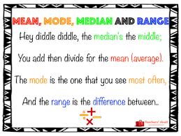mode median and range mode median and range rhyme free maths teaching resources