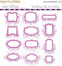 30OFF SALE Wedding Clip Art Frames Chandelier Ornate Frame Digital Scrapbooking Clipart Decoration Borders Hot Pink 0453