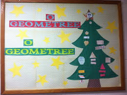 Christmas Bulletin Board Math Tree By Mrs Smith WHCA Door DecorationsChristmas Classroom