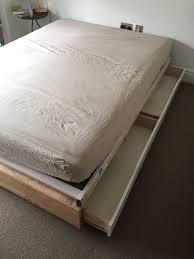 Ikea Mandal Headboard Uk by Ikea Mandal 140x200 Bed Frame With Drawers Ergonomic Slatted