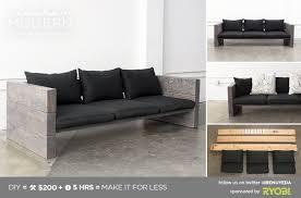 HomeMade Modern DIY Outdoor Sofa Postcard