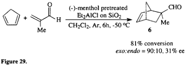 Chair Conformations Of Menthol by Chiral Lewis Acid Catalysts In Diels Alder Cycloadditions