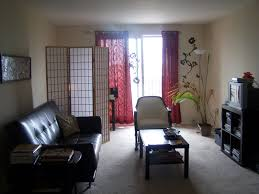 student apartment living room with college apartment living room