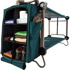 disc o bed cam o bunk cots with organizers x large
