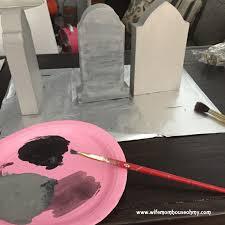 Diy Halloween Tombstones Cardboard by Diy Halloween Craft Mini Coffins And Mini Gravestones
