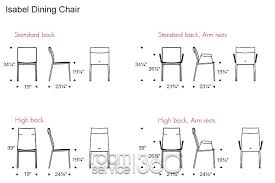 Dining Room Chair Dimensions With Goodly Of Table Chairs Perfect