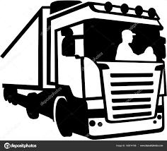 100 Truck To Trucker Er Sitting In A Truck Silhouette Stock Vector Miceking